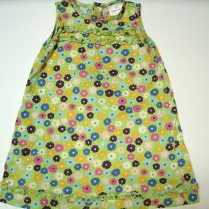 Hanna Andersson Girl's Dress Green Floral 90 3